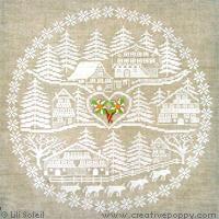 Au coeur de la vall�e, broderie point de croix, cr�ation Lili Soleil