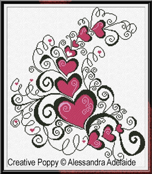 Amore Amore, broderie point de croix, cr�ation Alessandra Adelaide Needleworks