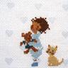 Perrette Samouiloff - Bonne nuit, modèle de point de croix à broder sur toile imprimée