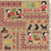 Sampler mini-motifs: la r�colte, (grand mod�le) cr�ation Perrette Samouiloff