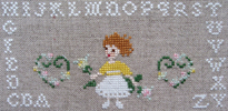 Perrette Samouiloff - La celebration (petite fille aux roses)