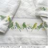 serviettes brod�es propos�es par Perrette Samouiloff.