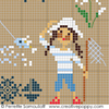 Sampler mini motifs Mer- grand mod�le, une cr�ation Perrette Samouiloff (detail)