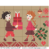 Sampler mini motifs No�l, cr�ations Perrette Samouiloff (d�tail)