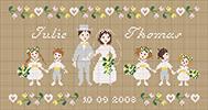 Perrette Samouiloff - The wedding - cross stitch pattern