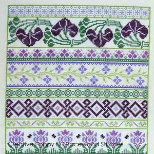 La note de Coeur, broderie point de croix, cr�ation Gracewood Stitches
