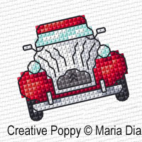 Mini motifs point de croix, grille de broderie, cr�ation Maria Diaz