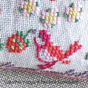 8 motifs oiseaux, cerises et fraises