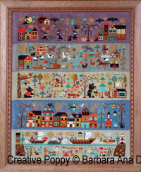 Le nouveau monde (partie II) - Prairies g�n�reuses, grille de broderie, cr�ation Barbara Ana
