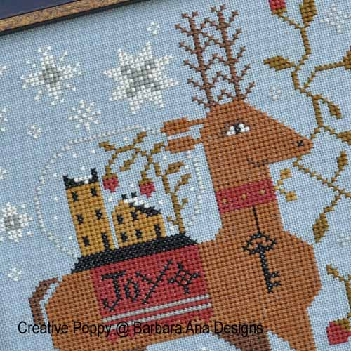 Le messager, grille de broderie, cr�ation Barbara Ana