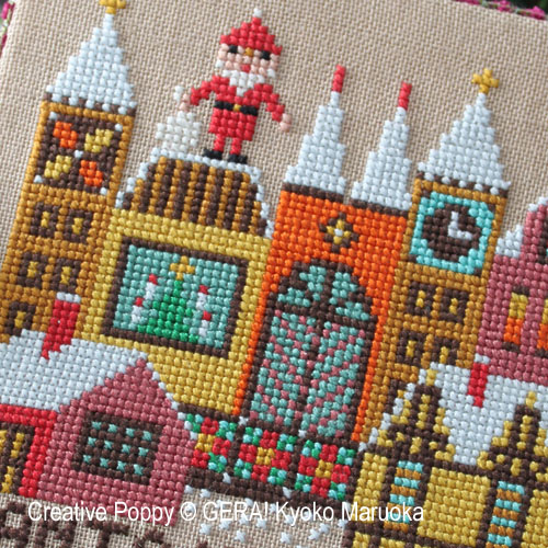 Gera! by Kyoko Maruoka - Santa has come - II zoom 1 (cross stitch chart)