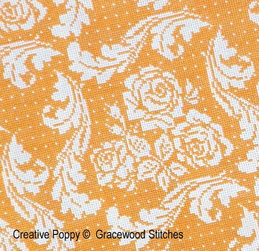 S�ville (Collection toiles vintage), grille de broderie, cr�ation Gracewood Stitches