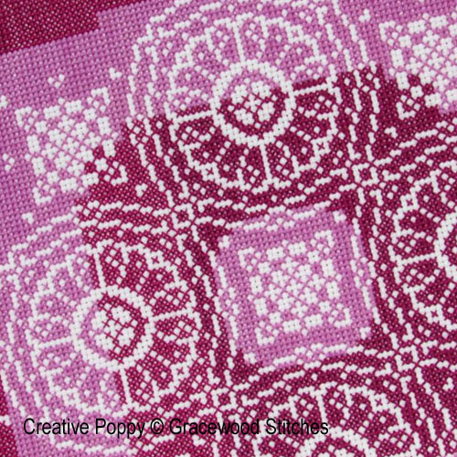 Traces de dentelles - Roues de prune, grille de broderie, cr�ation Gracewood Stitches