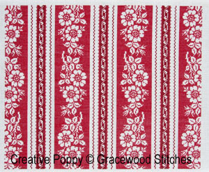 Alsace (collection toiles vintage), grille de broderie, cr�ation Gracewood Stitches