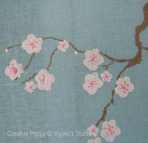 Le veiux cerisier, grille de broderie, cr�ation Kyoko's Studio