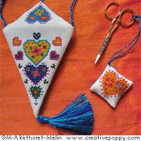 Scissor case & scissor fob - Sunny Colors