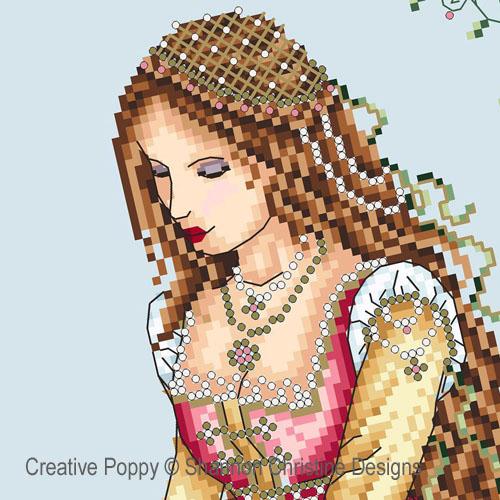 La belle Florentine, grille de broderie, création Shannon Christine Wasilieff