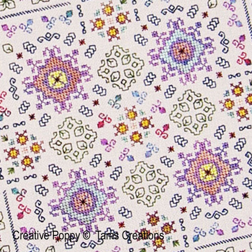 Songe d'�t�, grille de broderie, cr�ation Tam's Creations