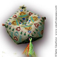 Biscornus Etincelles de Noël (3 modèles)