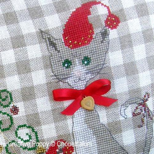Modèles à broder sur le thème avec des chats et des souris