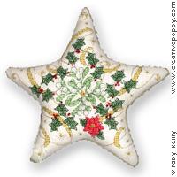 Etoile de Noël - grille point de croix - création Faby Reilly