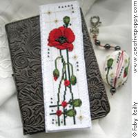 Marque-page et porte-clé Coquelicots