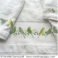 Les perruches - Drap de bain