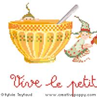 Modèles à broder sur le thème vaisselle et porcelaine