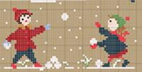 <b>Collection Bonheurs d'enfance - Hiver</b><br>grille point de croix<br>création <b>Perrette Samouiloff</b>