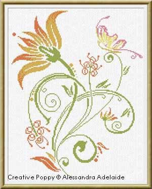 Alessandra Adelaide - Fleur d'été (grille point de croix)
