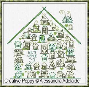 Alessandra Adelaide - Bienvenue dans la maison (grille point de croix)
