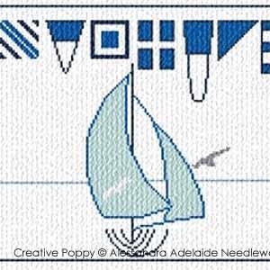 <b>Bannière de la mer 2</b><br>grille point de croix<br>création <b>Alessandra Adelaide - AAN</b>