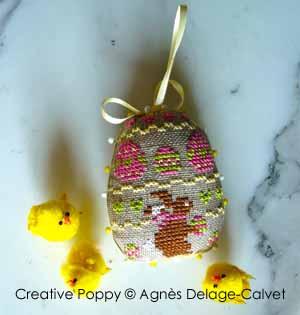 Petits lapins de Pâques - 4 motifs pour ornements de Pâques