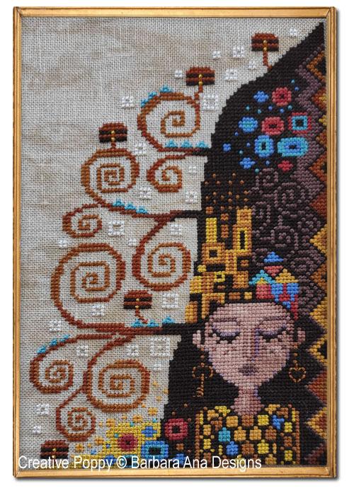 Rêverie de Klimt, grille de broderie, création Barbara Ana