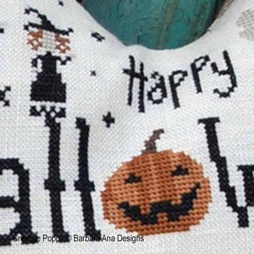 Le coeur de Halloween, grille de broderie, création Barbara Ana, zoom 1