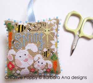Barbara Ana - Ornement de printemps pour ciseaux (grille broderie point de croix)