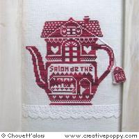 Salon de thé (monochrome rouge)