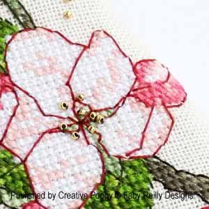 Etui à ciseaux - Fleur de pommier