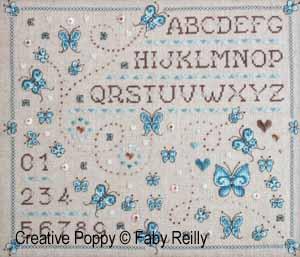 Faby Reilly - Marquoir aux papillons (grille de broderie point de croix)