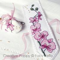 Faby reilly marque pages orchid e prune et sa breloque - Marque page point de croix grille gratuite ...