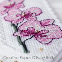 Orchidées, Grilles de broderie point de croix, création Faby Reilly