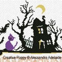 <b>L'ABC de Halloween</b><br>grille point de croix<br>création <b>Alessandra Adelaide - AAN</b>