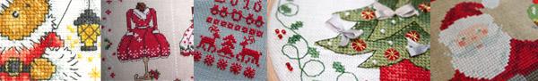 Découvrez toutes les nouvelles grilles de point de croix pour broder Noël