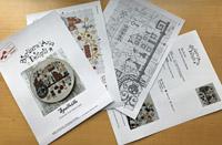 Exemple de grille de broderie publiée par Creative Poppy