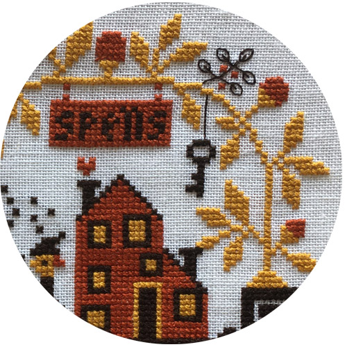 Spellville - Grille Mystère halloween 2020, grille de broderie, création Barbara Ana