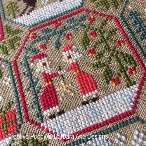 Grille Mystère de Noël - Les voyages du Père Noël, grille de broderie, création Barbara Ana