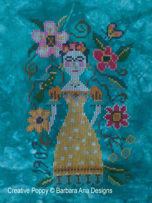 Frida, grille de broderie, création Barbara Ana