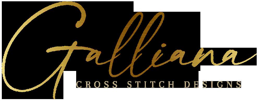 grilles de broderie point de croix création Galliana