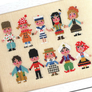 Modèles de broderie avec Enfants du Monde, création GERA! Kyoko Maruoka