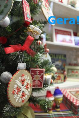 Modèles de broderie avec Noël, création GERA! Kyoko Maruoka